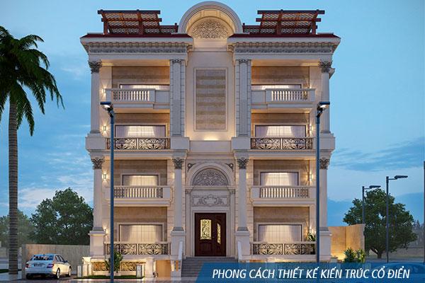 Phong cách thiết kế kiến trúc cổ điển - khangninhxaydung.com