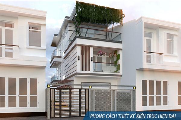 Phong cách thiết kế kiến trúc hiện đại - Khangninhxaydung.com