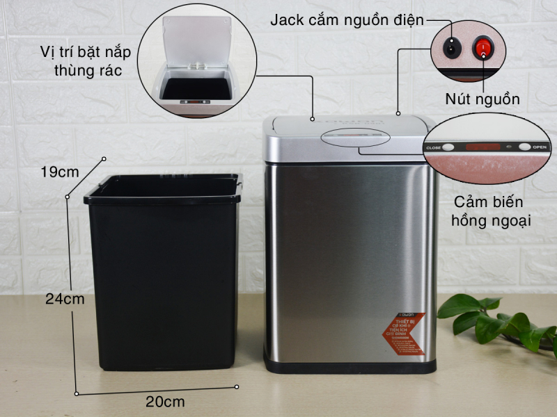 Thiết kế và thi công bếp với thùng rác thông minh