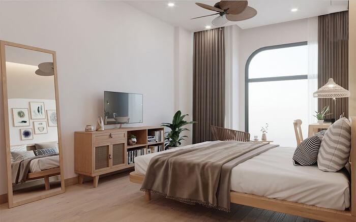 Bạn sẽ có giây phút nghỉ ngơi thật thoải mái với thiết kế phòng ngủ nhẹ nhàng