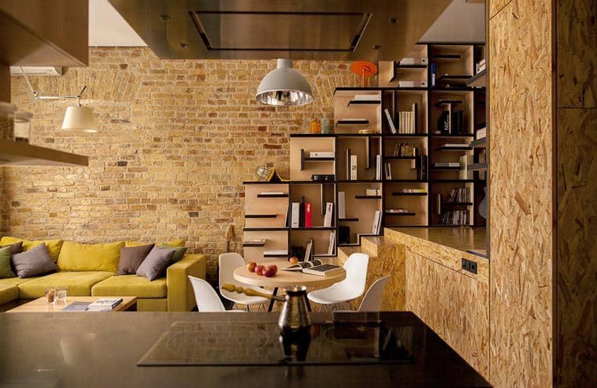 Sự kết hợp giữa nhiều vật liệu tự nhiên trong thiết kế nội thất