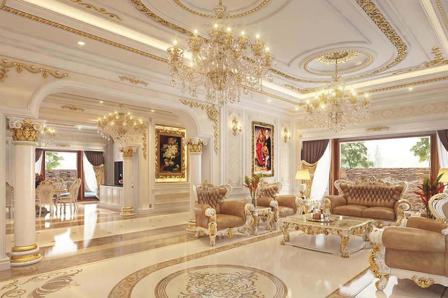 Thiết kế nội thất căn hộ mang phong cách cổ điển có nét đẹp huyền bí và sang chảnh riêng