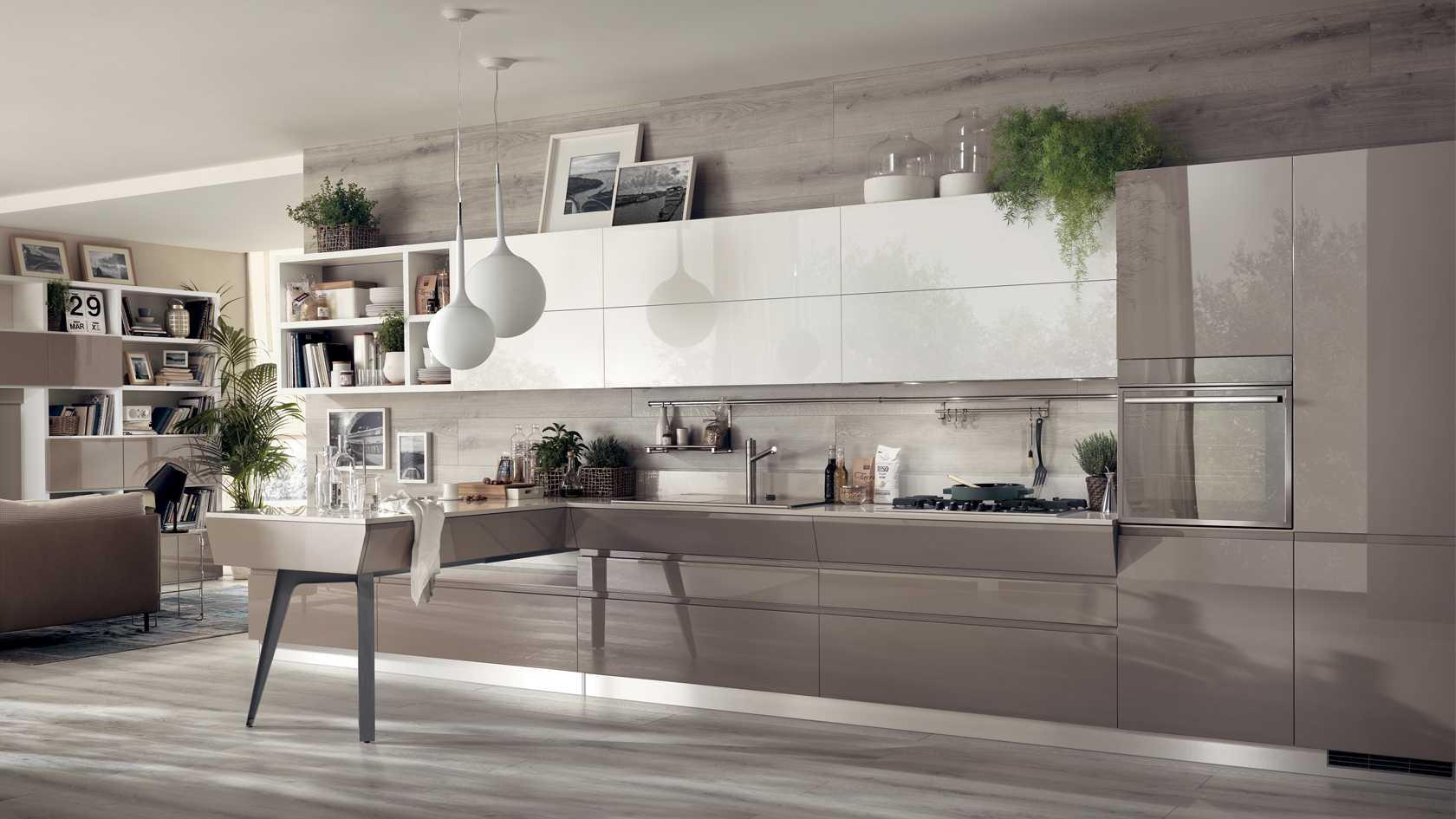 Acrylic tạo nên sự mới mẻ, thu hút mọi ánh nhìn khi bước vào gian bếp