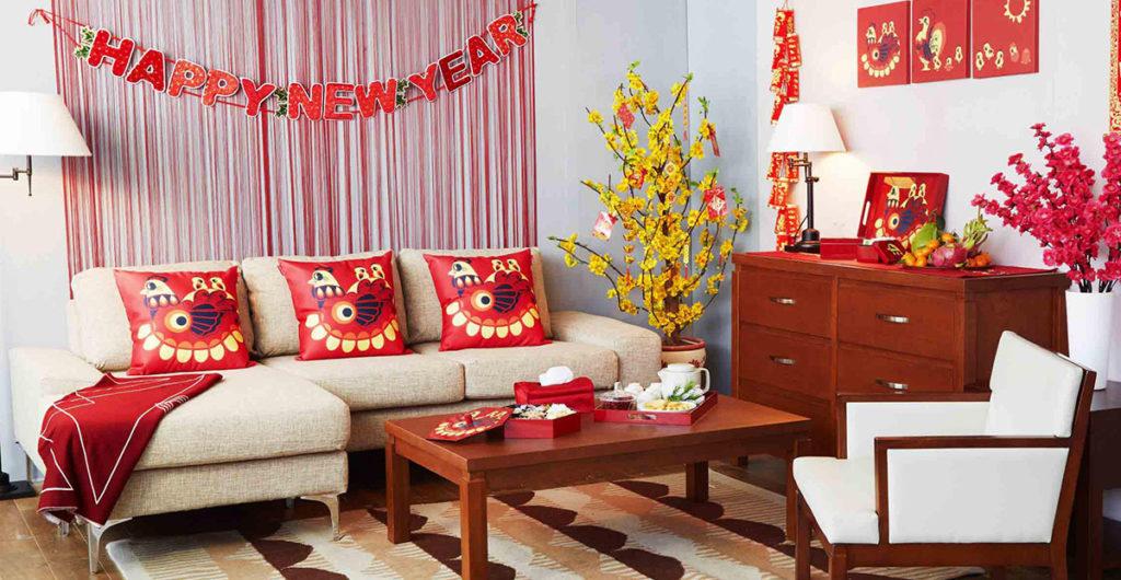 Bí quyết trang trí nội thất căn hộ phòng khách cho ngày Tết