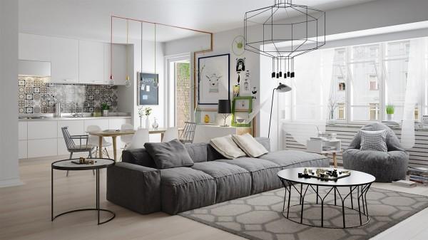 Không gian ấm cúng cho chung cư 2 phòng ngủ bằng nội thất gỗ