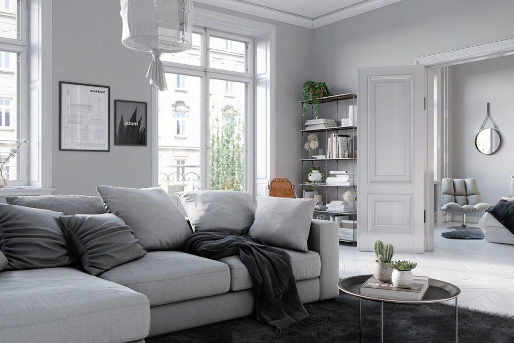nội thất căn hộ phong cách Scandinavian