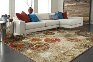 Thảm trang trí trải sàn nhập khẩu trong thiết kế nội thất