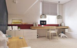 Chuyển căn phòng của bạn thành không gian học tập trong thiết kế nội thất