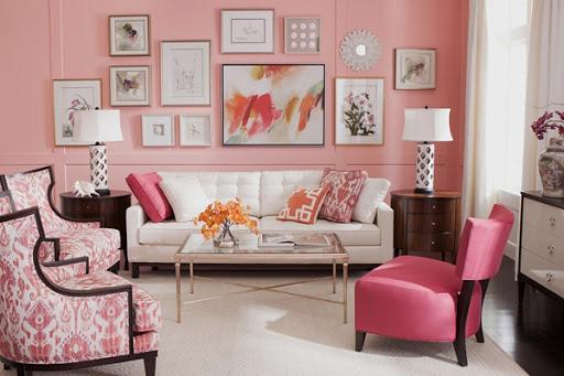 Thiết kế nội thất căn hộ cho trẻ em với màu hồng phấn